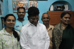 Arun with his family